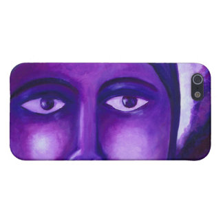 Watching, Abstract Purple Goddess Compassion Cover For iPhone 5