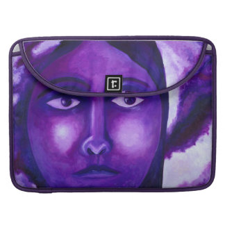 Watching, Abstract Purple Goddess Compassion MacBook Pro Sleeve