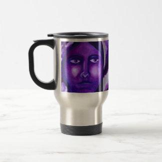 Watching, Abstract Purple Goddess Compassion Mug