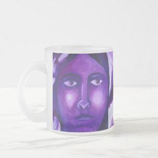 Watching, Abstract Purple Goddess Compassion Coffee Mugs