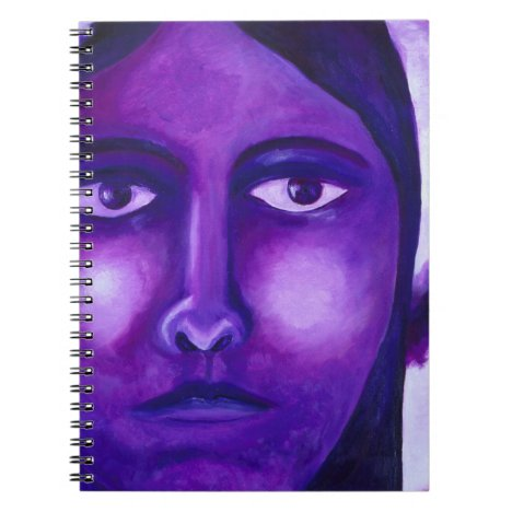 Watching, Abstract Purple Goddess Compassion Notebook