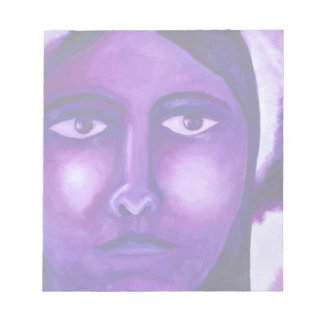 Watching, Abstract Purple Goddess Compassion Scratch Pad
