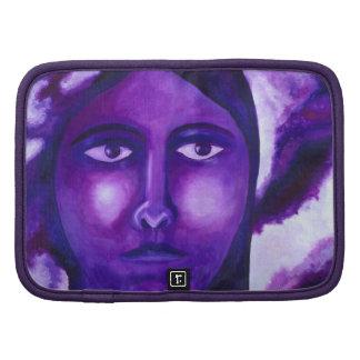 Watching, Abstract Purple Goddess Compassion Organizer