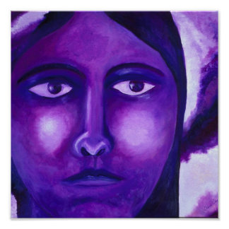 Watching, Abstract Purple Goddess Compassion Posters