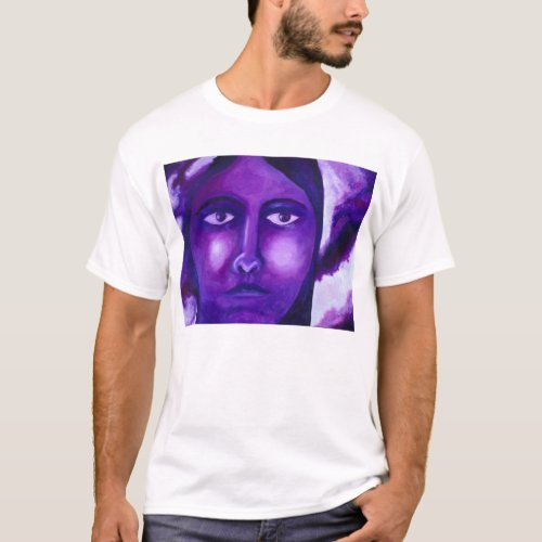 Watching, Abstract Purple Goddess Compassion T-Shirt