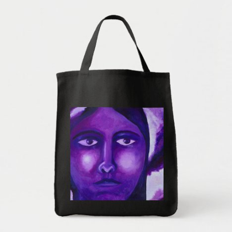 Watching, Abstract Purple Goddess Compassion Tote Bag