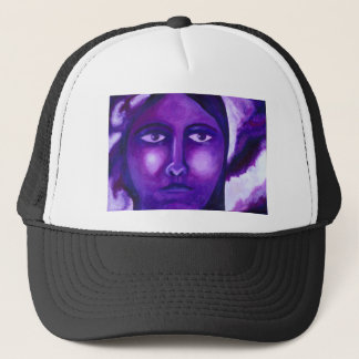 Watching, Abstract Purple Goddess Compassion Trucker Hat