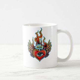 Watching Angel Eye Winged Heart Halo Design Coffee Mug