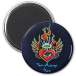 Watching Angel Heart Design Refrigerator Magnets