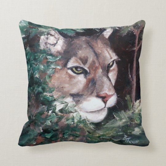 Watching Cougar American MoJo Pillow