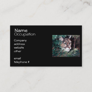 Watch business cards templates zazzle watching cougar business card colourmoves