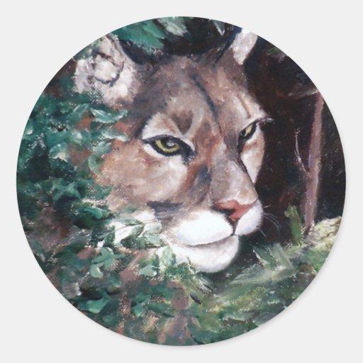 Watching Cougar Sticker