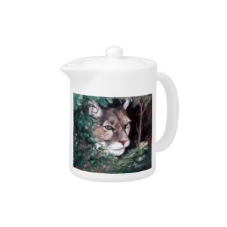 Watching Cougar zazzle_teapot