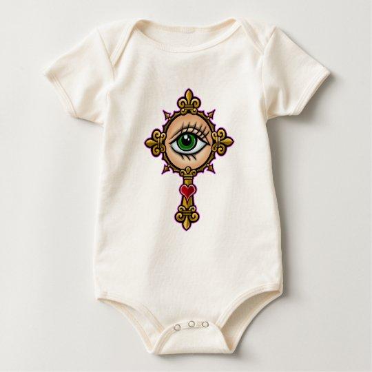 Watching Eye Cross Baby Bodysuit