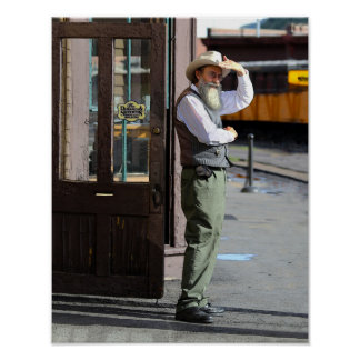 Watching for the Durango & Silverton Train Poster