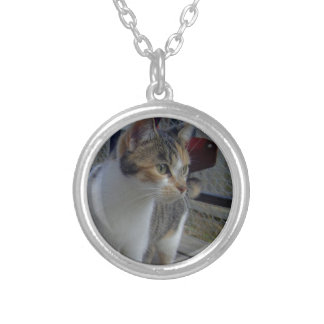 Watching Her Babies Silver Plated Necklace