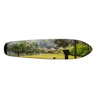 Watching it rain skateboard deck