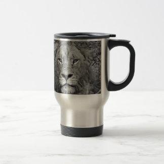 Watching Lion, South Africa Travel Mug