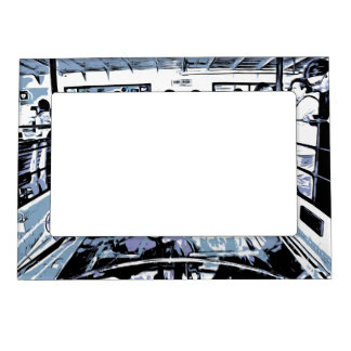 Watching machinery in operation magnetic photo frame
