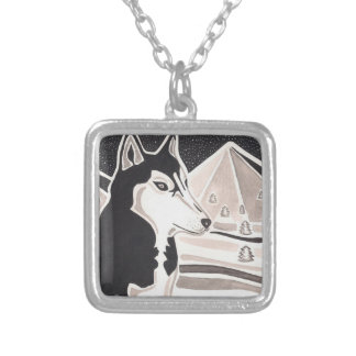 Watching Over The Wild Square Pendant Necklace