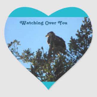 Watching Over You Heart Sticker