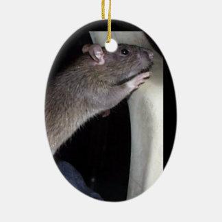 WATCHING RAT ORNAMENT