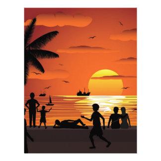 watching sunset letterhead