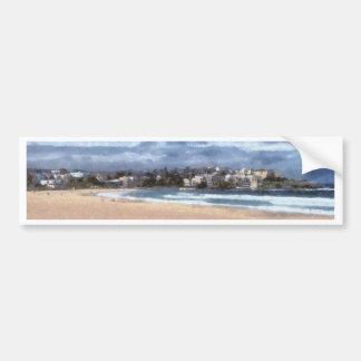 Watching the beach bumper sticker