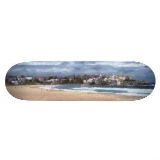 Watching the beach skateboard