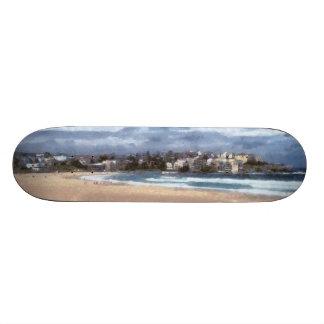 Watching the beach skateboard deck