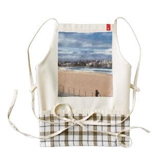 Watching the beach zazzle HEART apron