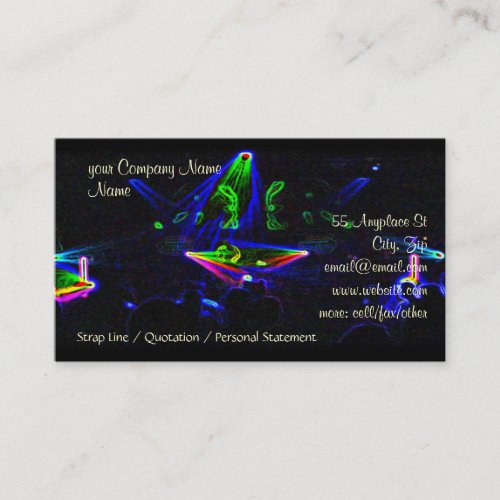 Watching The DJ Spin in Nightclub, Bar Business Card