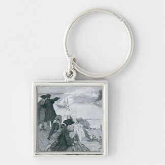 Watching the Fight at Bunker Hill illustration Keychain