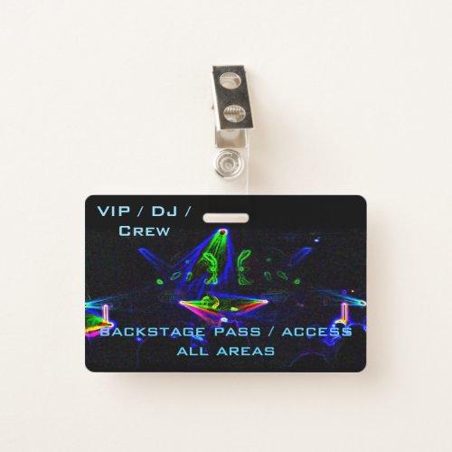 Watching The Nightclub / Rave DJ Spin Badge