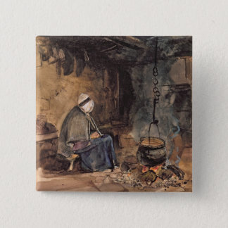 Watching the pot boil - a cottage interior button