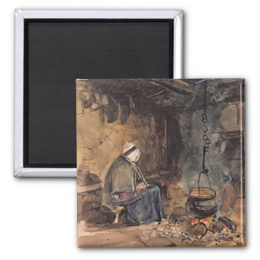 Watching the pot boil - a cottage interior fridge magnets
