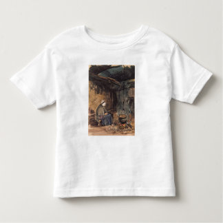 Watching the pot boil - a cottage interior toddler t-shirt