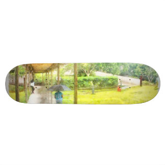 Watching the rain skateboard