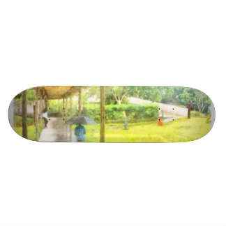 Watching the rain skateboard deck