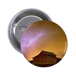 Watching The Storm From The Farm Pinback Button