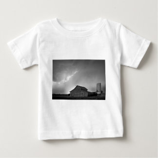 Watching The Storm From The Farm BW Baby T-Shirt