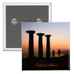 Watching The Sunset At The Athena Temple Buttons