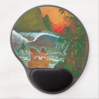 Watching the Sunset Man Dog and Surf Van Gel Mouse Pad