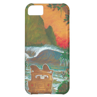 Watching the Sunset Man Dog and Surf Van iPhone 5C Cover