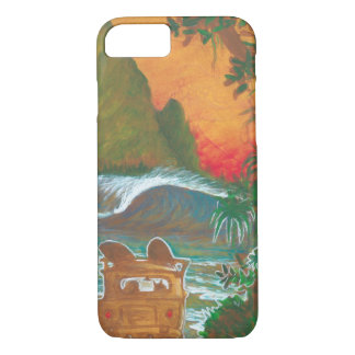 Watching the Sunset Man Dog and Surf Van iPhone 7 Case