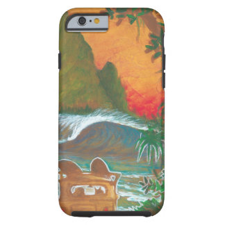 Watching the Sunset Man Dog and Surf Van Tough iPhone 6 Case