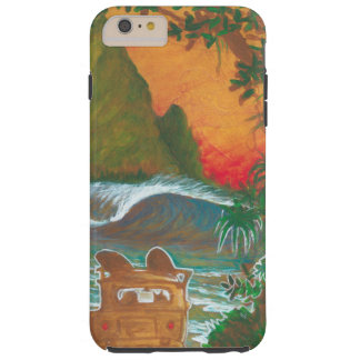 Watching the Sunset Man Dog and Surf Van Tough iPhone 6 Plus Case