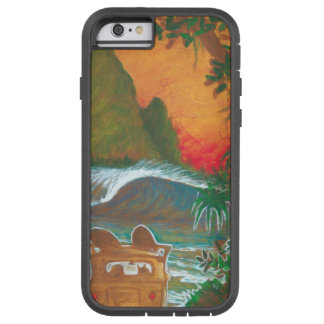Watching the Sunset Man Dog and Surf Van Tough Xtreme iPhone 6 Case