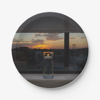 Watching The Sunset Paper Plate