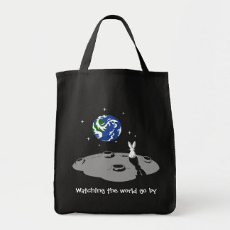 Watching the world go by canvas bag